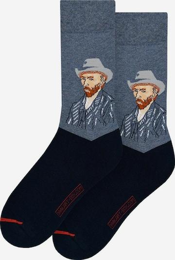 MuseARTa Socken in dunkelblau / braun, Produktansicht