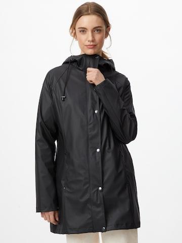ILSE JACOBSEN Between-seasons coat in Black