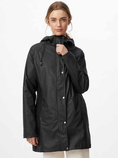 ILSE JACOBSEN Between-seasons coat in Black, View model