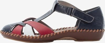 RIEKER Sandale ' M1668 ' in rot / schwarz, Produktansicht