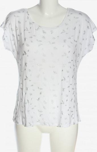 Laura Torelli Print-Shirt in M in hellgrau / weiß, Produktansicht