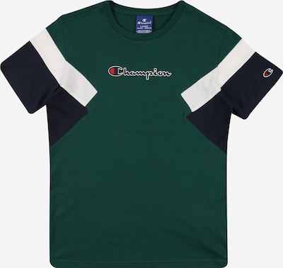 Champion Authentic Athletic Apparel T-Shirt in blau / tanne / weiß, Produktansicht