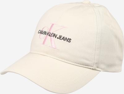 Șapcă 'Monogram' Calvin Klein Jeans pe crem / roz / negru, Vizualizare produs