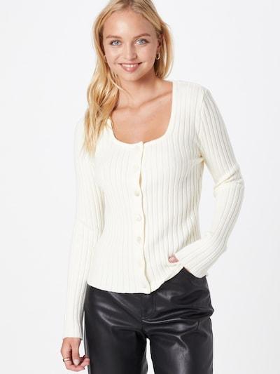 Y.A.S Strickjacke 'ELLI' in weiß, Modelansicht