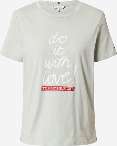 TOMMY HILFIGER T-Shirt in pastellgrün / rot / weiß, Produktansicht