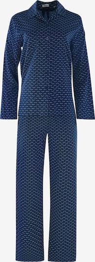 SEIDENSTICKER Langarm Pyjama ' Albatross Print ' in petrol, Produktansicht