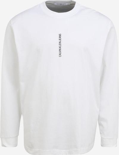 Calvin Klein Jeans Plus T-Shirt en noir / blanc cassé, Vue avec produit