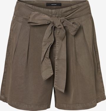 Vero Moda Petite Pleat-Front Pants 'Mia' in Grey