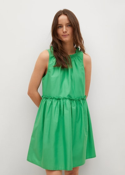 MANGO Kleid in grün: Frontalansicht