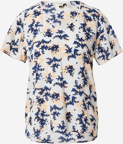 ROXY Shirt 'HEY NOW' in de kleur Blauw / Donkerblauw / Zalm roze / Wit, Productweergave
