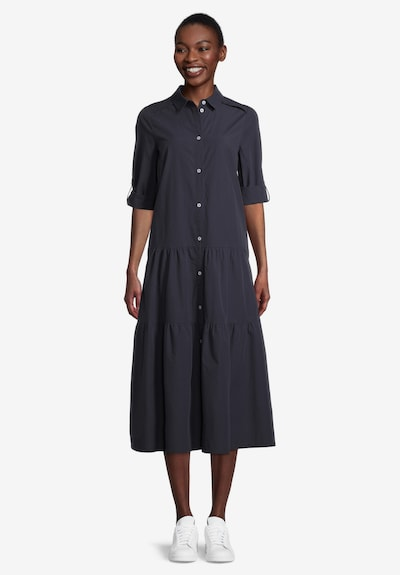 Cartoon Kleid in dunkelblau, Modelansicht
