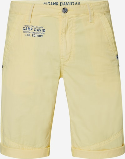 CAMP DAVID Chino Shorts mit Back Print in hellgelb, Produktansicht