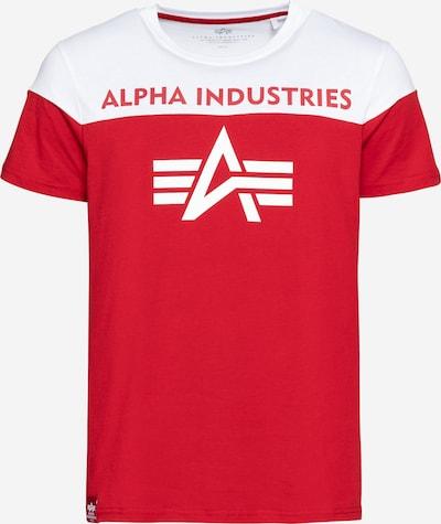 ALPHA INDUSTRIES Shirt in melone / weiß, Produktansicht