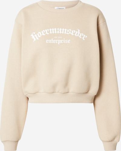 Hoermanseder x About You Sweat-shirt 'Ela' en beige, Vue avec produit
