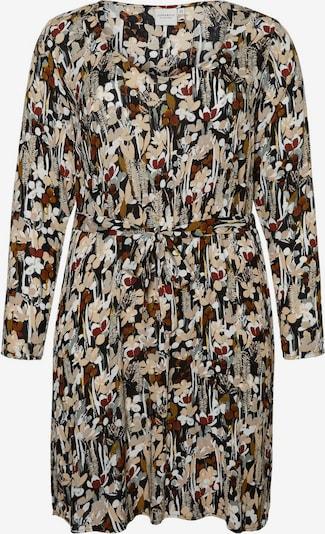 Junarose Kleid in beige / braun / schwarz / weiß, Produktansicht