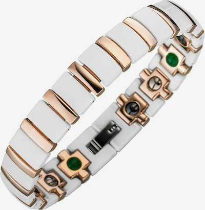 Lunavit Armband Magnet Keramikarmband Titan in weiß, Produktansicht