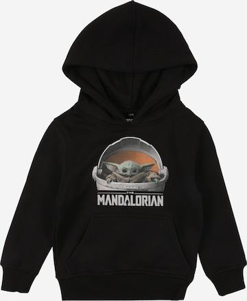Mister Tee Collegepaita 'The Mandalorian' värissä musta