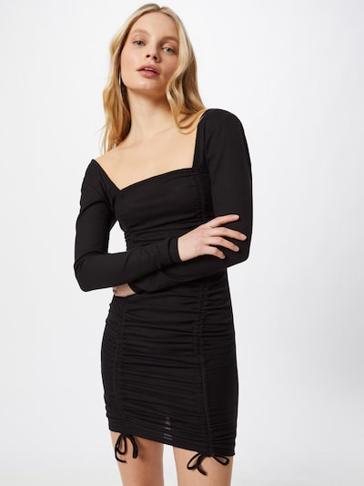 Missguided Knit dress in Black, View model