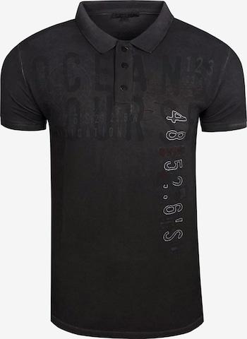 Rusty Neal Polo-Shirt in Schwarz