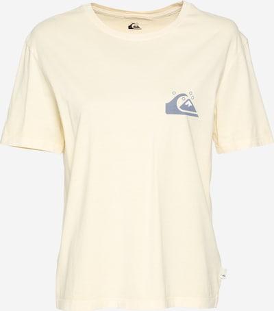 QUIKSILVER T-shirt en bleu fumé / jaune pastel, Vue avec produit