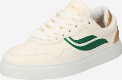 GENESIS Baskets basses 'G-Soley' en or / vert / blanc naturel, Vue avec produit