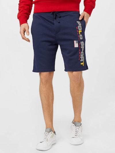 Pantaloni POLO RALPH LAUREN pe albastru închis / galben / gri / roșu pepene / alb, Vizualizare model