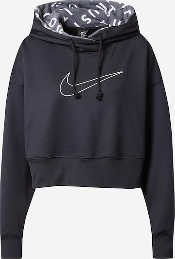 NIKE Sportsweatshirt 'Therma' in schwarz / weiß, Produktansicht