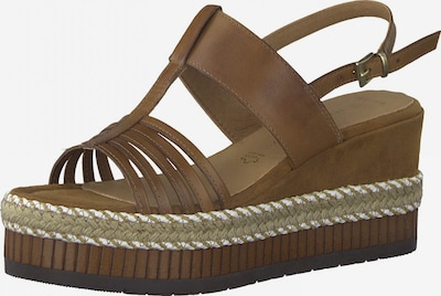 MARCO TOZZI Sandales à lanières en beige / marron, Vue avec produit