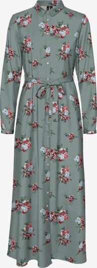 VERO MODA Robe-chemise 'Allie' en vert pastel / rose / rouge foncé, Vue avec produit