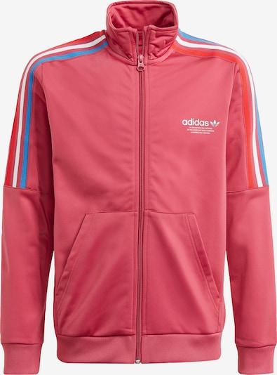 ADIDAS ORIGINALS Sweatjacke  'Adicolor Originals' in blau / pink / rot / weiß, Produktansicht