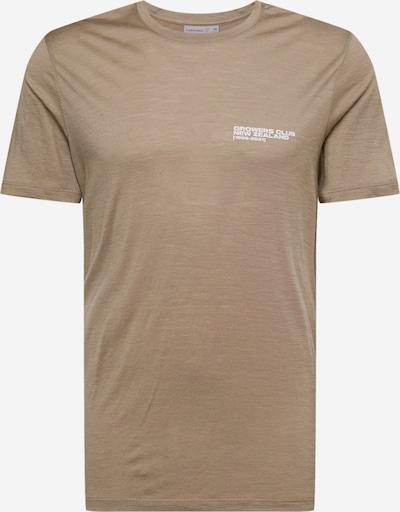 ICEBREAKER Functioneel shirt in de kleur Lichtbruin / Wit, Productweergave