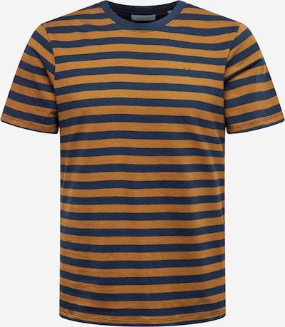 Casual Friday T-shirt 'Thor' i mörkblå / konjak, Produktvy