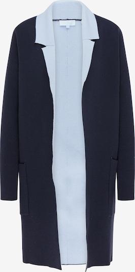 usha BLUE LABEL Strickjacke in navy / hellblau, Produktansicht