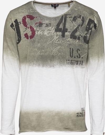 Key Largo Koszulka 'CHALLENGER' w kolorze khaki / białym, Podgląd produktu