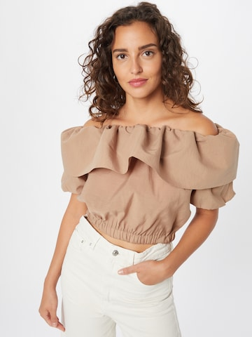 Gina Tricot Blouse 'Phoebe' in Brown