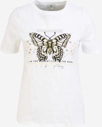 River Island Petite T-shirt en or / noir / blanc, Vue avec produit