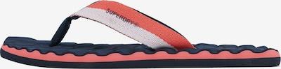 Superdry Zehentrenner in marine / lachs / weiß, Produktansicht