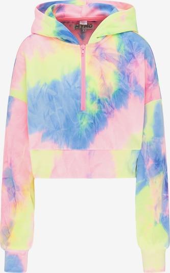 myMo ATHLSR Sweatshirt in blau / gelb / pink, Produktansicht