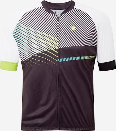ZIENER Sportshirt 'NOFRET' in grau / limette / schwarz / weiß, Produktansicht