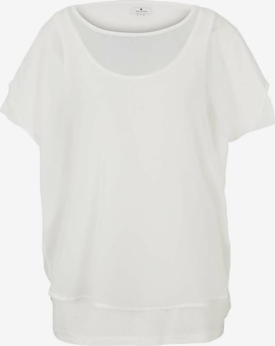 TOM TAILOR T-shirt en blanc, Vue avec produit