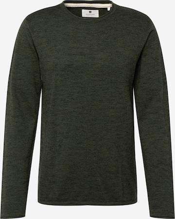 anerkjendt Sweater 'AKSONNY COT SILK KNIT' in Green