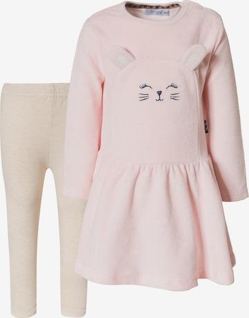 Dirkje Set: Kleid + Leggings in Pink