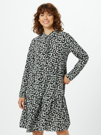 JACQUELINE de YONG Kleid 'Piper' in schwarz / weiß, Modelansicht