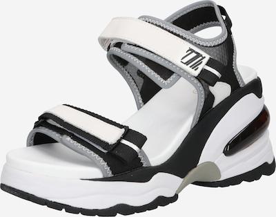 ASH Sandale in grau / schwarz / weiß, Produktansicht