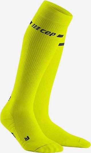 CEP Socken ' CEP neon socks ' in neongelb / schwarz, Produktansicht