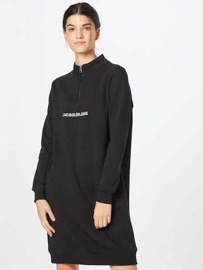 Calvin Klein Jeans Kleid in schwarz / weiß, Modelansicht