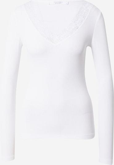 Tricou 'PANSY' SISTERS POINT pe alb, Vizualizare produs