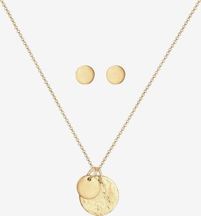 ELLI Schmuckset Geo, Kreis, Organic, Schmuckset in gold, Produktansicht