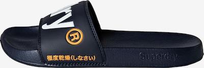 Superdry Strand-/badschoen in de kleur Marine / Sinaasappel / Wit, Productweergave