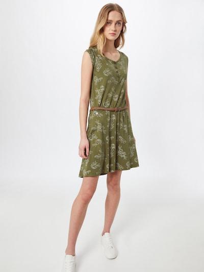 Ragwear Kleid 'Zephie' in oliv / weiß, Modelansicht